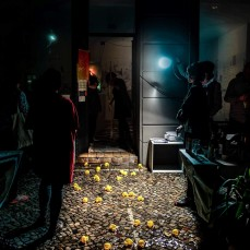 *All images by Uri Levinson, taken on August 19th, 2016 at book launch for the desire to contain and the inevitability of rupture published by The Evergreen State College Press, performed at grüntaler9 with invited participants as part of the Project Space Festival 2016